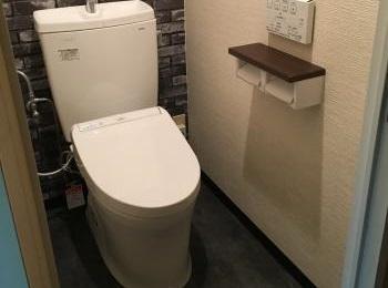 「TOTO ピュアレストQR」かっこいい雰囲気のトイレに大変身しました!