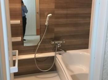 1116サイズから1416サイズアップし広々したお風呂になりました。