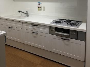 てきぱきと流れるように作業が進み、必要な道具はすぐに手が届く。たまらなく使い心地のよい最新型のキッチンです。