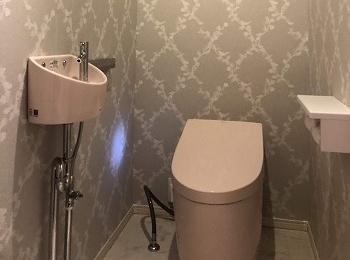おしゃれなトイレ空間になりました。
