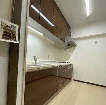 天板はウォールキャビネットから缶詰を落としてしまっても、割れにくい厚みと特性を備えています。