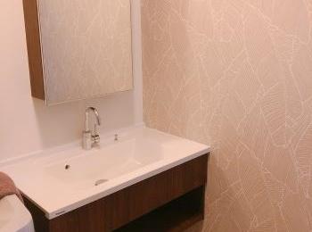 シーラインのフロートタイプでスッキリした洗面所になりました。