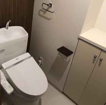 セフィオンテクトで汚れが付きにくいトイレです。