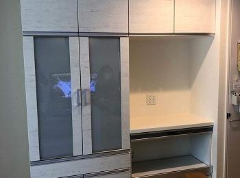 家電と食器をすっきり収納できるようになりました!