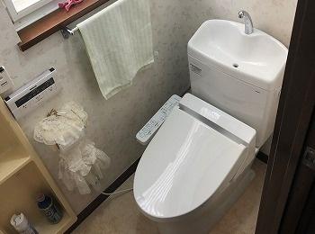 セフィオンテクで汚れがつきにくくお掃除しやすいトイレです。